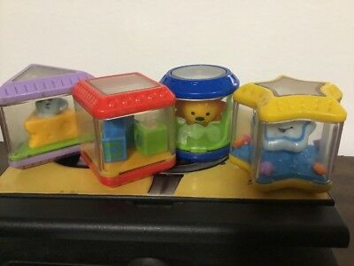 Fisher Price Peek A Blocks Shape Sorter Replacement Shapes - Lot Set Of 4 Y