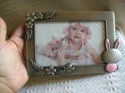 Girl Pink Bunny Tiny Miracles Baby Photo Frame NEW Picture B10