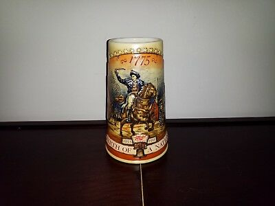 Beer Stein Mug Miller High Life Birth Of A Nation 1st In Series 1855 - 1991