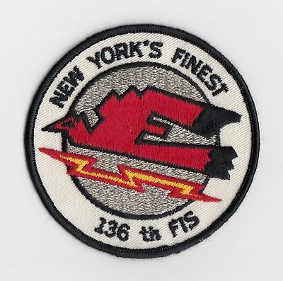 USAF - 136 Fighter Interceptor Squadron patch  -  NEW YORK  ANG  -  F-101 Voodoo