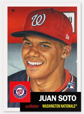 2018 Topps Card #43 Juan Soto RC ONLY from LIVING Set Washington Nationals 1953