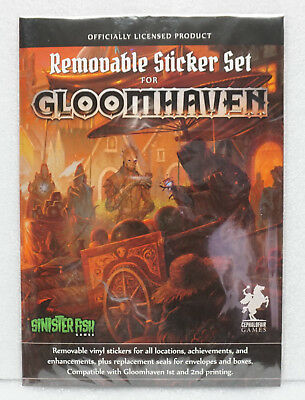 Gloomhaven Removable Sticker Set (Offically Lincesed Product)