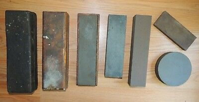 Vintage lot of 7 assorted sharpening stones