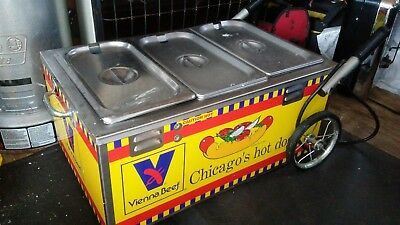Nemco Mini Hot Dog Wagon Cart/Steamer. Vienna Beef Chicago Dog Food Equip