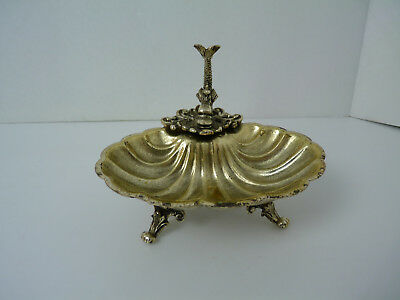 Vintage Fish & Shell Shaped Chromed Brass Wall Soap Dish