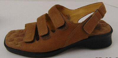 64f82a4a1f9 Cobbie Cuddlers Womens 7.5 W sandals Ultra Massage shoes straps brown  Leather