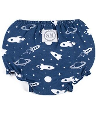 """Brand New Space Ship/Outer Space Boys Diaper Cover """"One Size Fits Most"""" Stud Muf"""