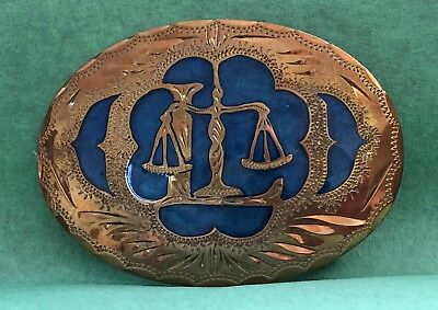 VTG Custom Handcrafted *SCALES OF JUSTICE* Law BELT BUCKLE-Attorney Judge Lawyer