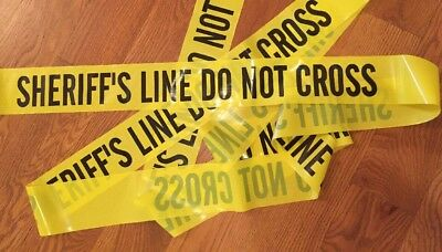 "Sherrif's Line Do Not Cross Tape 25 Feet 3"" Wide Crime Scene Police Line Csi Fbi"