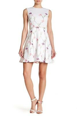 NWT TED BAKER London Ahlanna Floral print Skater Dress size 3 ... 464f11754