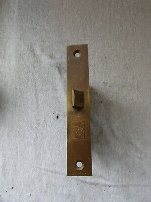VTG Antique Brass Door Lock Mortise Yale Made in USA 2D0 277 1500 MK B.D.F.