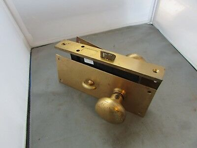 VTG Door Lock Set Cylinder Mortise Knobs Back Plates Corbin Russwin ? 11224BB