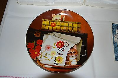 "2001 Bradford Exchange Purr-Fect Pairs Cat Plate ""hide And Seek"""