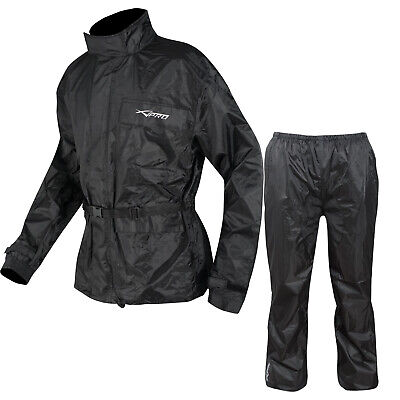 Waterproof Apparel Motorcycle Over 2 pc Rain Suit Trouser Jacket Scooter