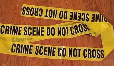 4 Rolls - Sheriff'S Line Do Not Cross Tape 25 Feet Crime Scene Csi Fbi Police