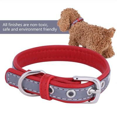 Reflective Dog Collars Soft Microfiber Adjustable Buckle for Small Medium Dogs