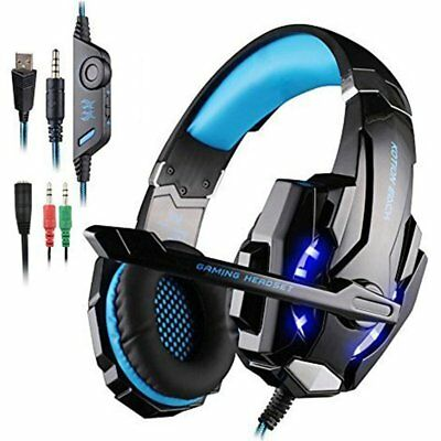 Each G9000 Gaming Headset Headphone 3.5mm Stereo Jack with Mic for PS4/Xbox one