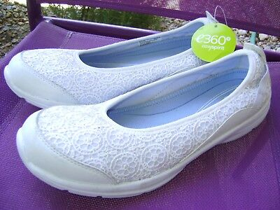 NEW!! EASY SPIRIT e360 Women's Essquelle Slip On Shoes WHITE LACE size 10