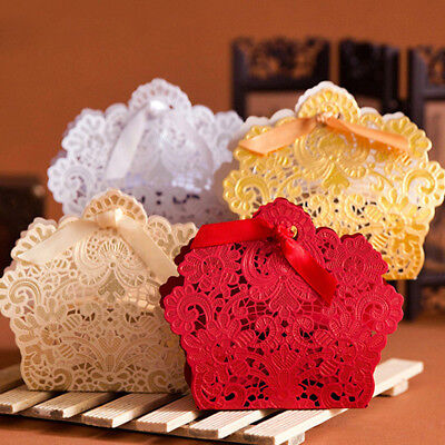 10/50/100pcs  Luxury Wedding Favour Favor Sweet Cake Gift Candy,Boxes Party Deco