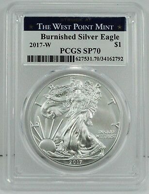 2017-W $1 Burnished Silver Eagle Coin PCGS SP70 - LOWEST MINTAGE