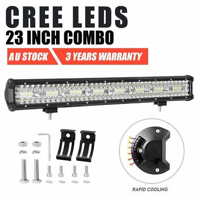 23 inch CREE Tri-Row LED Light Bar Combo Beam Driving Lamp Offroad Truck 4WD 4x4