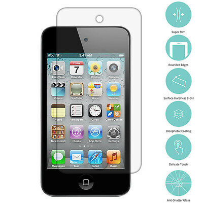 Tempered Glass Real Film Premium Screen Protector for iPod Touch 4th Gen 4G  US