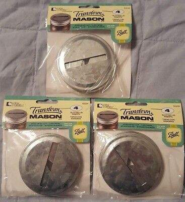 Galvanized Metal Coin Slot Bank Lid Inserts for Mason Jar 12 Pack, Regular Mouth