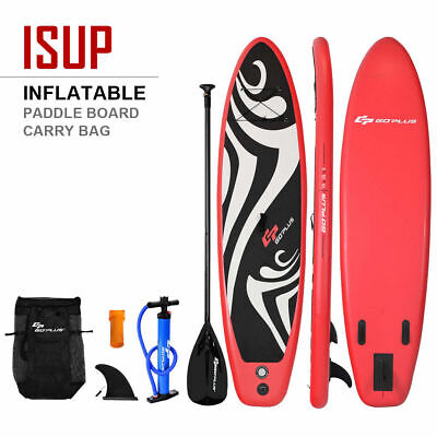 10' Inflatable Stand up Paddle Board Surfboard SUP W/ Bag Adjustable Fin Paddle