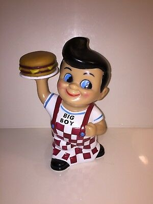 Big Boy Vinyl Piggy Bank Advertising Collectible Dated 2001 Very Nice Cond.