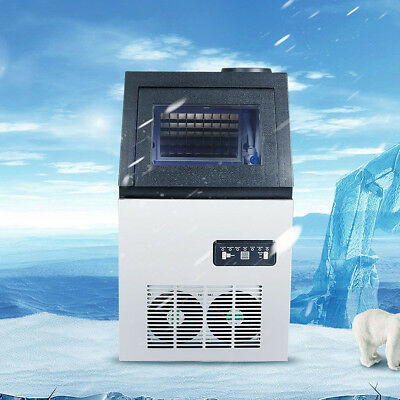 Ultraviolet Sterilizer Commercial Ice Cube Maker 110LBS Bulit-in Automatic