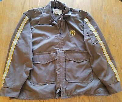 UPS Uniform Jacket Full Zip Mens XL Jacket 3M United Parcel Service Brown