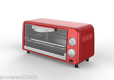 New Red Stainless Steel Mini Electrical Toaster Ovens Convection Turbo Ovens