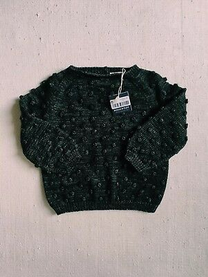 NWT Misha and Puff Popcorn Sweater in Charcoal 5-6T