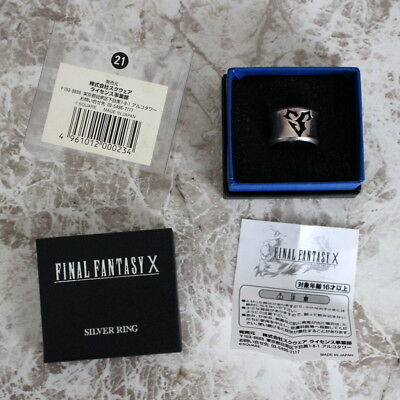 Final Fantasy SQUARE ENIX Japan Official Sterling Silver Ring X Tidus US10.5