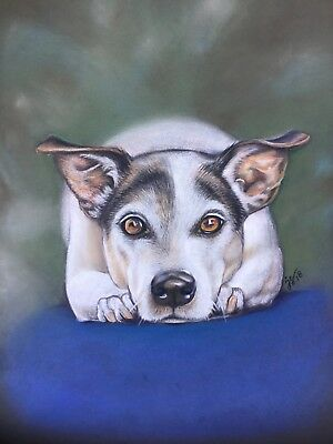 1bb6fe23cab1 Custom Dog Pet portrait Dog art gift coloured pencil painting from your  photo.