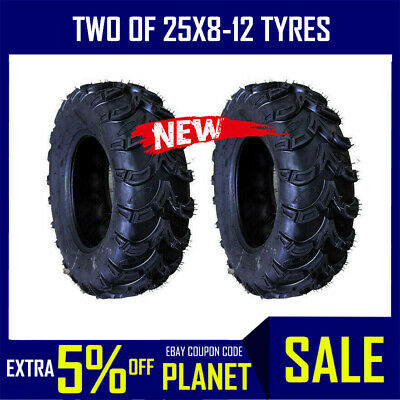 2x 6 ply 25x8-12 Front Tyre Tire Suzuki King Quad 700 Quadrunner vinson king ATV