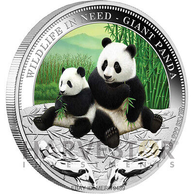 2011 Wildlife In Need Series - Giant Panda - Coin #1 - 1 Oz Silver - Sold Out