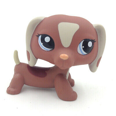 LPS #1631 Littlest Pet Shop Tan Patches Puppy Brown Dachshund Dog Mini Kids Gift