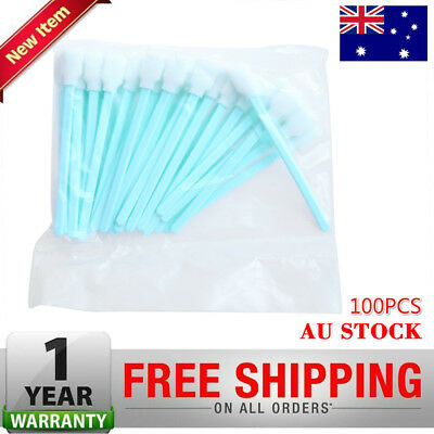 100 x Solvent Cleaning Swabs Fit Roland Mimaki Mutoh Epson Format InkJet Printer