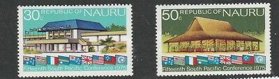 Nauru 30c 50c Welcome 15thSouth Pacific Conference  Mint Stamps
