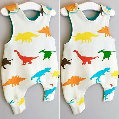 Dinosaur Newborn Infant Baby Boy Girls Romper Bodysuit Jumpsuit Outfits Clothes