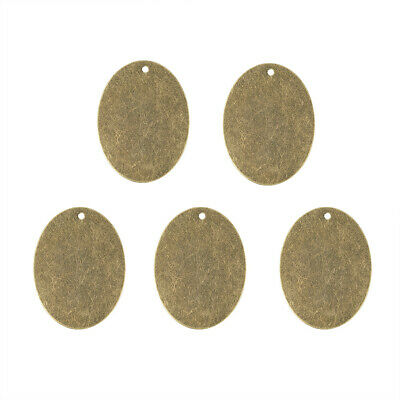 10pcs Antique Bronze Brass Tag Pendants Antique Bronze Oval Stamping Blanks 40mm