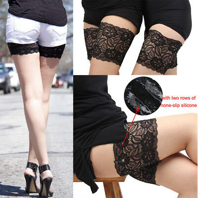 Non Slip Lace Elastic Sock Anti-Chafing Thigh Band Prevent Thigh Chafing Sock UK