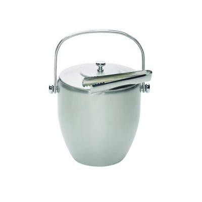 Kitchencraft Barcraft Stainless Steel Ice Bucket With Lid  Tongs- Gift Boxed