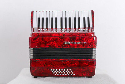 Red Professional 30 Key 32 Bass Preferred Musical Instruments Accordion #