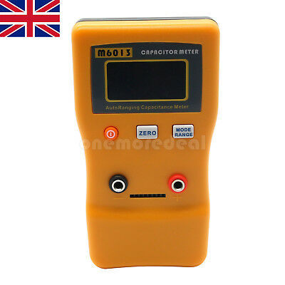 M6013 AutoRange Digital Capacitor Capacitance Tester Meter 0.01pF to 470mF UK