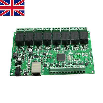 8 Channel Relay Network IP Web Relay Dual Control Ethernet RJ45 interface UK