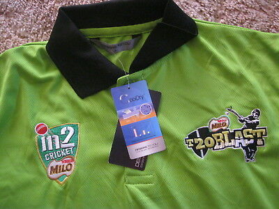 Sydney Thunder T20 Blast Players Issue Cricket Training Shirt (Large) Free Post