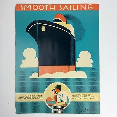 Vintage Avondale Color Poster / Print Ad With Boat - Smooth Sailing