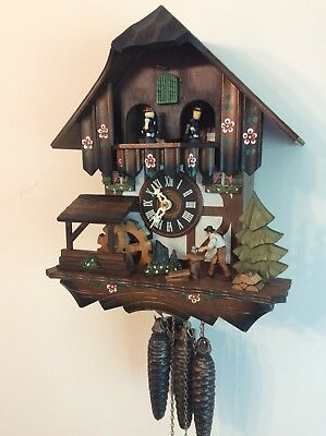 Musical Cuckoo Clock Black Forest Automaton Fully Serviced